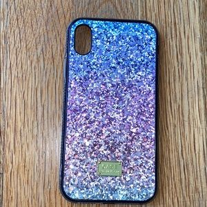 Tricolor glitter iPhone XR case
